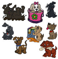 Digital Stickers, Dogs, Clipart, 1 PNG & Pre-cropped images in Goodnotes $2.00