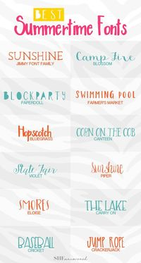 Calling all bloggers and designers! On the lookout for summer fonts? Look no further! Here's some of our favorite Summery fonts from Creative Market!