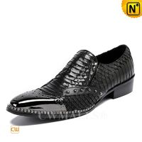 CWMALLS® Trendy Men Black Leather Dress Shoes CW708102 [Made in CWMALLS, 2018 Spring]