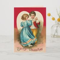 Boy and Girl Dancing Card