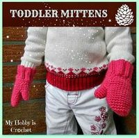 Free Crochet mittens pattern with great tutorial.