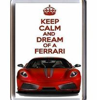 Yummy Grandmummy KEEP CALM and DREAM of a FERRARI Fridge Magnet printed on an image of a red Ferrari F430, from our K Unique People deserve Unique Gifts! Show your appreciation with this special gift! (Barcode EAN = 5060292640631). http://www.comp...