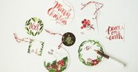 free printable christmas gift tags, illustrated by Oana Befort