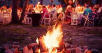 Bonfires at weddings make amazing pictures   Kristen & Paigh's gorgeous backyard Virginia wedding   Images by What a Lovely Photo