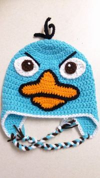 Perry the Platypus inspiration - no pattern. Missing the fedora