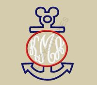 Design Exclusive Mouse Head Monogram Circle by glitzystitches, $3.75