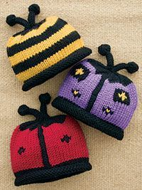 Free Patterns for Lady bug and bee hats