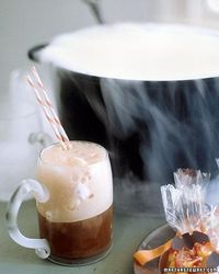 [witches' brew] rootbeer floats out of a cauldron with dry ice! so cute!