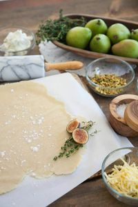 Pear and Fig Galette with Goat Cheese, Honey, and Black Pepper | Rue