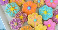 These bright and colorful summer Flower Decorated Cookies are easy to make and are sure to brighten anyone's day!