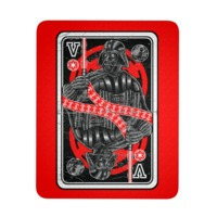 King of The Darkside Vader Playing Card Mouse Pad $9.99 https://www.nurdtyme.com