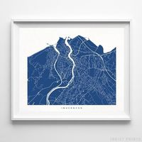 Inverness, Scotland Street Map Horizontal Print by Inkist Prints - Available at https://www.inkistprints.com