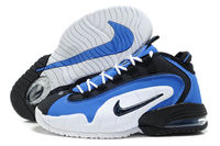 nike air penny 1 white black and blue shoes men size