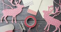 Simple and pretty gift tags made from shipping tags + washi tape. #cydconverse