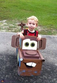 Christy: My 2 year old son asked to be brown Mater this Halloween. My husband and I searched for a costume to buy and found nothing worth buying�€� so we decided.
