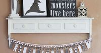 Black and White Halloween Decor made with the Cricut Explore -- The Happy Scraps. #DesignSpaceStar Round 4