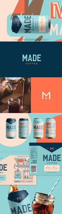 Kenny Coil designed this beautifully illustrated packaging for Made Coffee. The design features gorgeous typography and detailed illustrations that depict the p