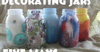 You can decorate mason jars in so many ways - paint, Mod Podge, and more. Here are five ideas for crafting with them - all fun and easy!