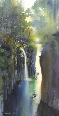 Watercolor gorge