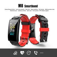 LYNWO M8 OLED Screen Wristband Heart Rate Monitor Blood Pressure Oxygen Fitness Tracker Smart Watch