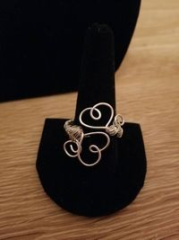 Wire Wrapped Double Heart Ring- Available in Bronze, Silver, Gold and Copper $5.00