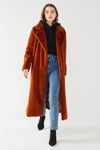 Slide View: 6: UO Charlie Long Faux Fur Coat