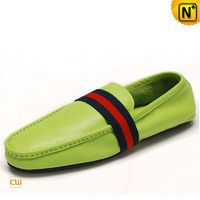 Mens Leather Slippers Driving Loafer Shoes CW740091