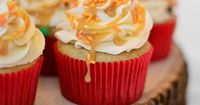 Fall recipe for Redd's apple ale cupcakes with caramel frosting. Because my alcohol infused snacks have been a hit lately i wanna try this