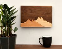 Mountain Wood Wall Art $48.99 �œ�Handcrafted in the USA! �œ�