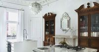 Kitchen white with traditional cabinets