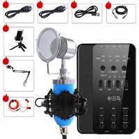 BGN-E6 Audio External USB Headset Microphone Live Broadcast Sound Card for Mobile Phone Computer PC