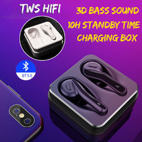 [Bluetooth 5.0] Aipao TWS True Wireless Earphone 3D Stereo Bass Bilateral Call Headphone with Charging Box