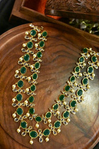 A beautiful uncut diamond and Ruby emerald middle haram $160.00
