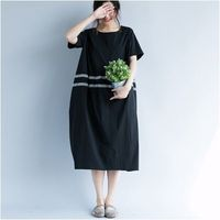 Maxi linen dress in black loose fitting dress oversized dress linen dress Long Linen Dress