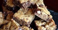 vegan chocolate coconut cookie bars. made these as well for b and jr...they were sooo good.