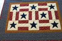 PATRIOTIC TABLE RUNNER/Star Spangled Table by twistedsticks,