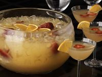Has my name all over it.........Mimosa Punch!!!!! Let me say it again.....Mimosa Punch!!!! Yippee:) Orange Juice, Ginger Ale, Grand Marnier and Champagne.....divine I tell you......divine:)