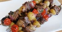 For the Love of Cooking » Steakhouse Kebabs - this steak marinade is so tasty!