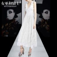 2017 summer new ladies sexy V-neck embroidery long dress women's fashion - Bonny YZOZO Boutique Store