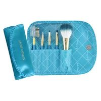 Jacki Design Vintage Allure 5 Pc Make Up Brush Set And Bag, Turquoise @The Lavender Lilac
