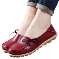 Large size leather Women shoes flats girls lace-up casual comfortable breathable R206.00