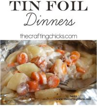 Do you need a quick, easy idea for dinner tonight? Here's an oldie but goodie that the kids can help with. Tin Foil or Hobo Dinners are so fun, easy, and the be