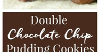 These Double Chocolate Chip Pudding Cookies have a slightly crisp outer shell and are chewy and gooey on the inside almost like a brownie.