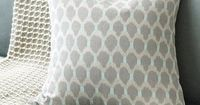 Lindy Ikat Dot Linen Pillow