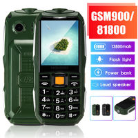 HODOO 2.6inch 13800mAh Power Bank bluetooth Torch Big Speaker Long Standby Dual SIM Mini Feature Phone