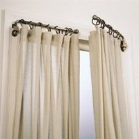 What?! Replace your curtain rods with swing arm rods to open up the room and allow more light in. Windows appear to be bigger than they are, too :) How have I never heard of this?! It's like shutters in drape form!