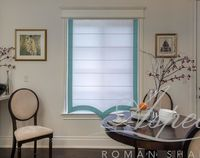 Custom Flat Roman Shade with Scalloped Edge $97.00