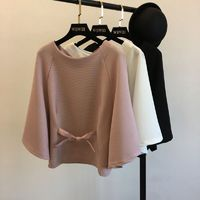 Must-have Attractive Batwing Sleeves One Color Spring Top - Discount Fashion in beenono
