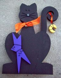 The Wood Connection Halloween Cat by www.summerscraps.com