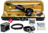 Bunnel Edge Electric Violin Outfit Jet Black